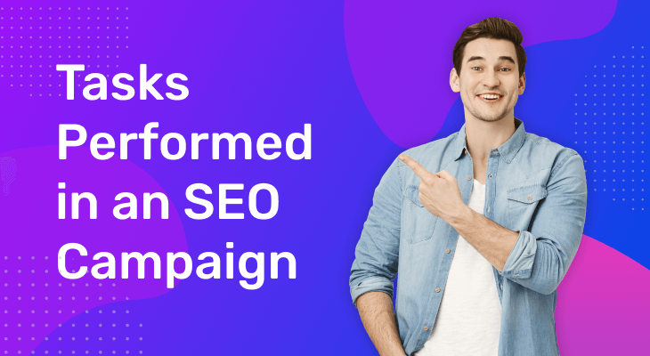tasks performed in an seo campaign